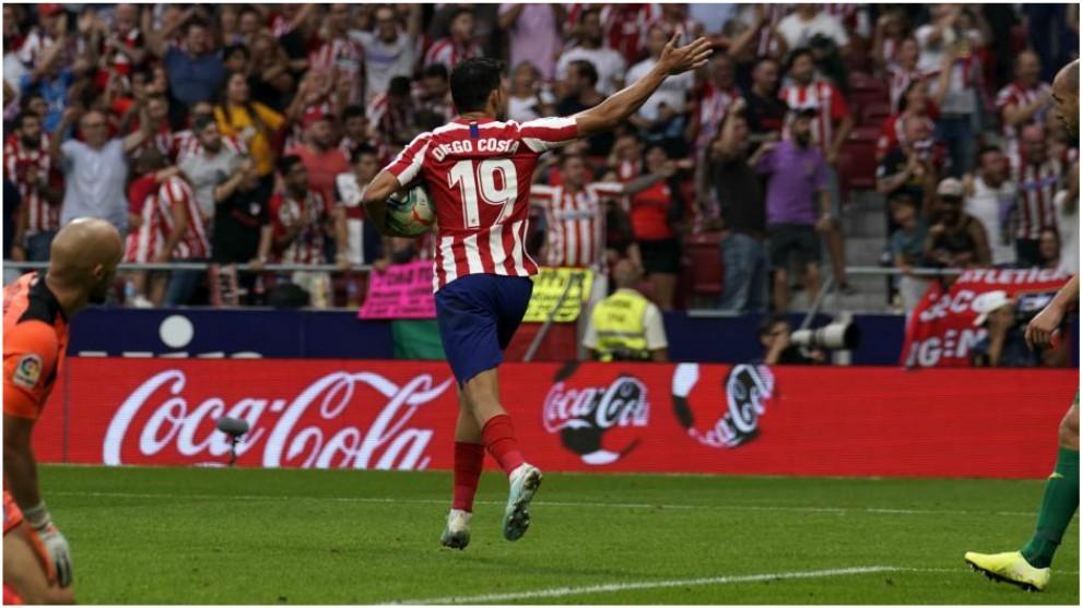 Diego Costa se estrenó ante el Eibar en LaLiga