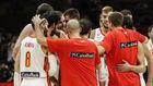 España se reúne en la pista tras su victoria ante Serbia