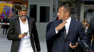 Neymar hijo y padre