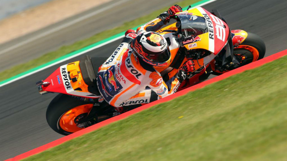Lorenzo, durante el pasado Gran Premio de Gran Bretaña.