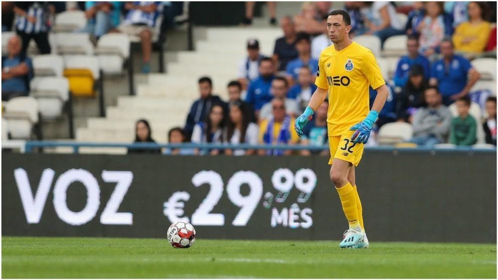 Agustín Marchesín durante un partido del FC Porto.