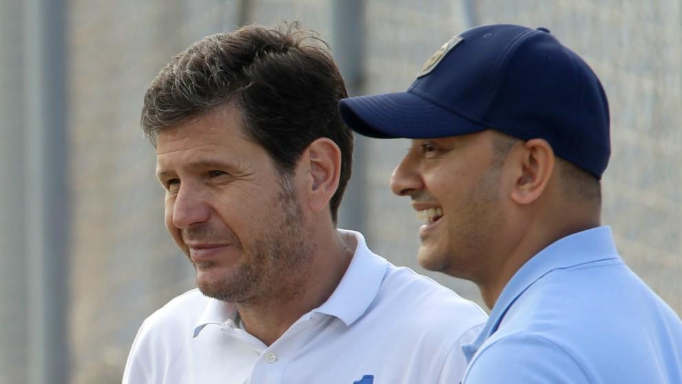 Mateu Alemany y Anil Murthy en una imagen reciente en Paterna.