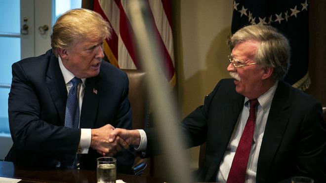 Trump y Bolt en una reunión de archivo