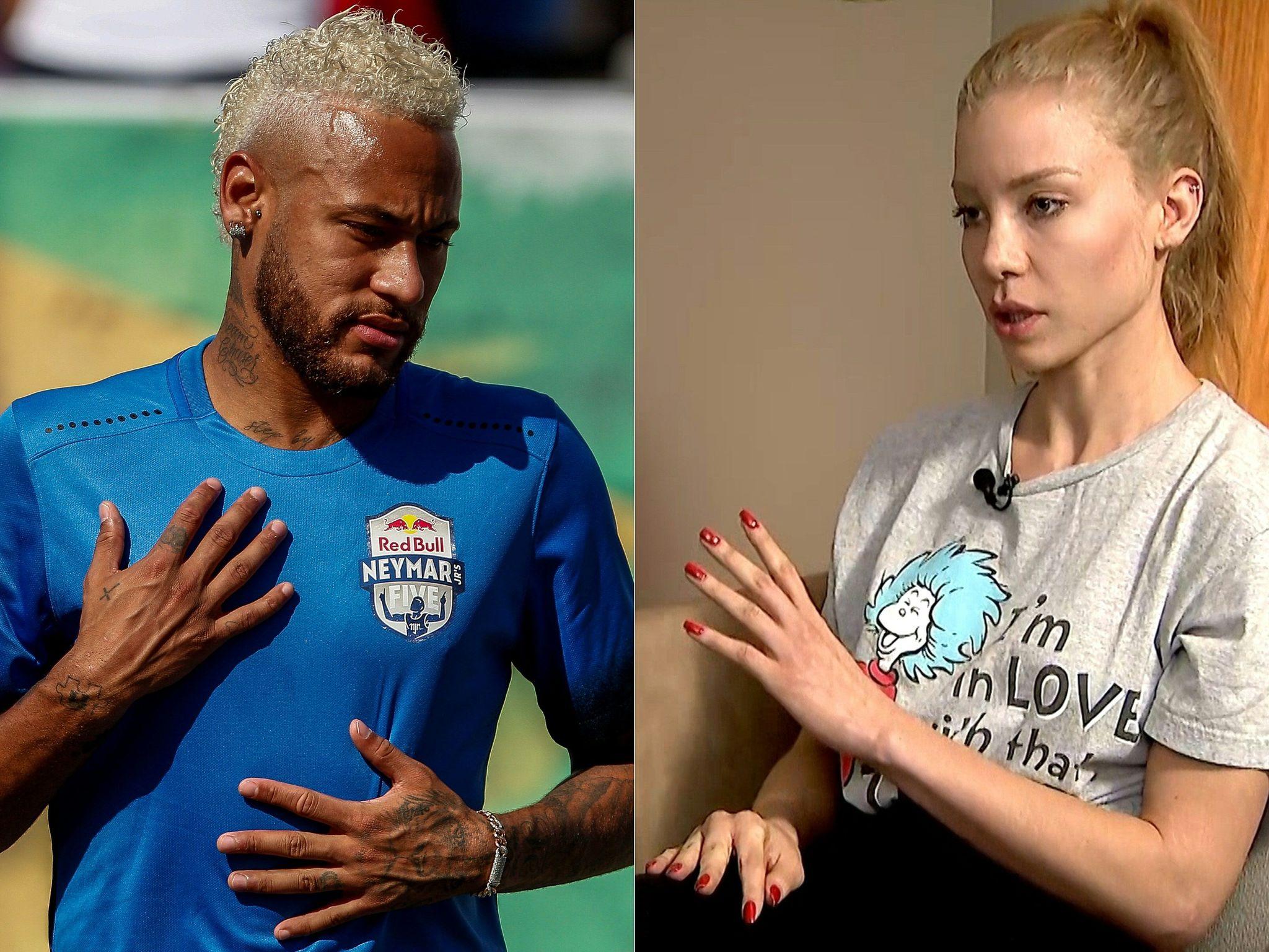 Neymar y la modelo Najila Trindade