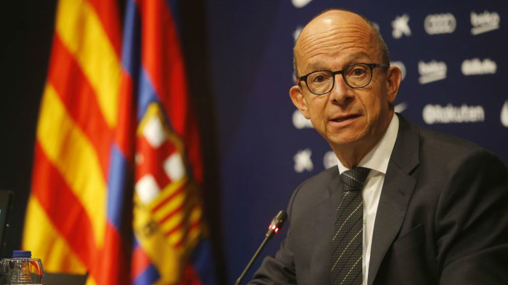 Jordi Cardoner in a press conference.