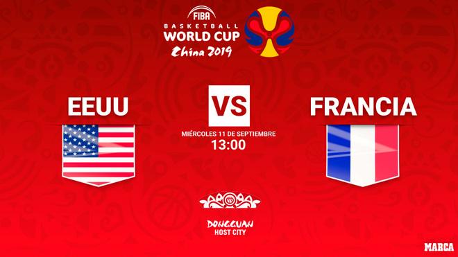 Estados Unidos - Francia, Mundial de Baloncesto: hora y donde ver el...