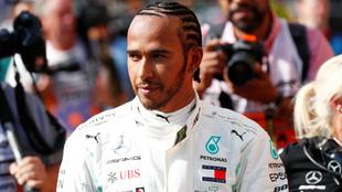 Hamilton durante el GP de Bélgica