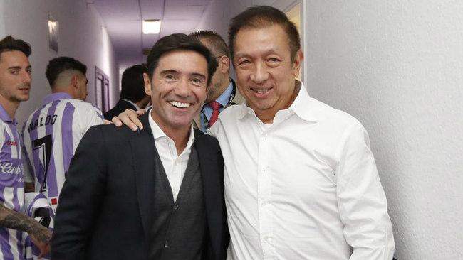 Pert Lim y Marcelino en Valladolid.
