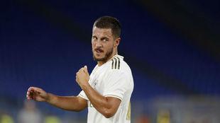 Hazard, durante el amistoso ante la Roma de pretemporada.