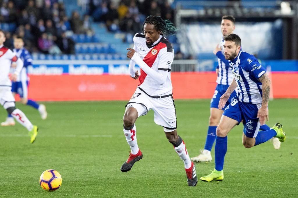 Abdoulaye Ba en un encuentro ante el Alavés la pasada temporada