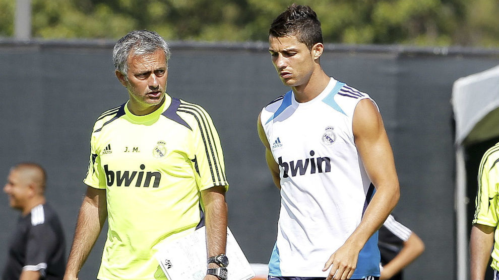 Jose Mourinho and Cristiano Ronaldo during their time together at Real...