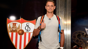Chicharito, recién llegado a Sevilla.