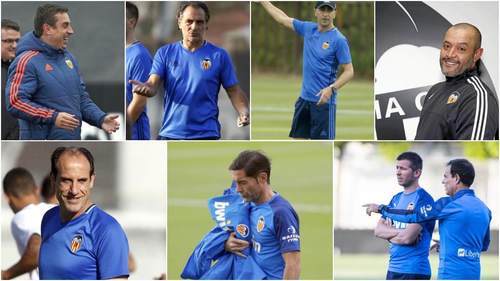 Los entrenadores del Valencia desde 2014.