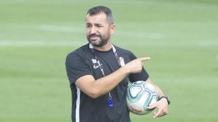 Diego Martínez en un entrenamiento