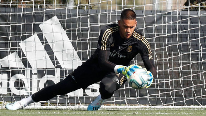 Areola, during training in Valdebebas.