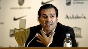 Vicente Casado en su época de director general del Málaga