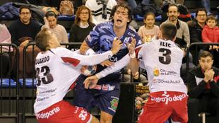 Fede Vieyra durante un partido ante el Logroño /