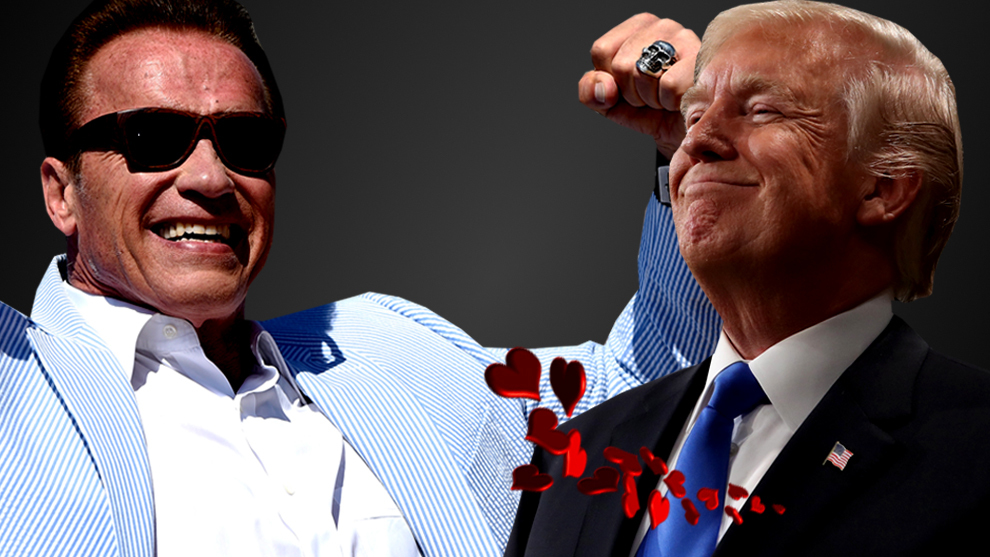 "Arnold Schwarzenegger cree que Donald Trump está ""enamorado de él"""