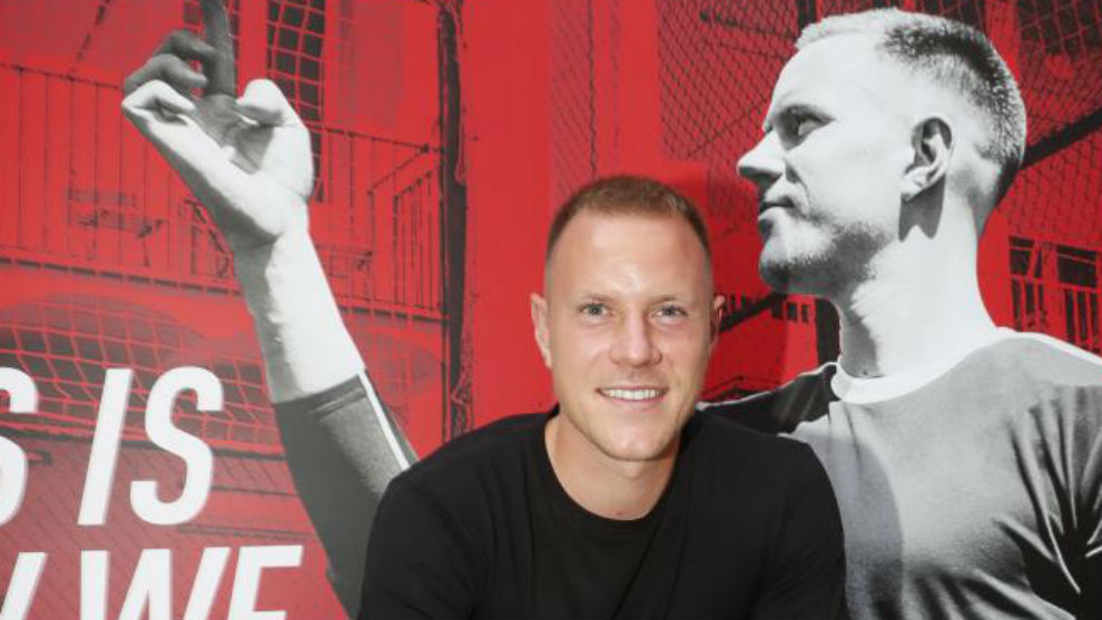 Ter Stegen at the promotional event hosted by McDavid.