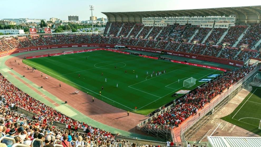 Estadio de Son Moix, en el partido entre el Mallorca y la Real...