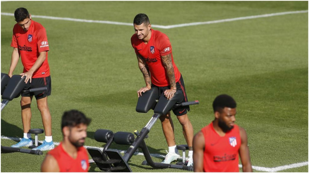 Vitolo during Thursday's training session.