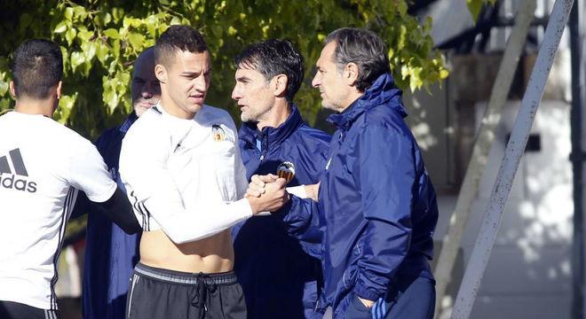Rodrigo con Prandelli hace tres temporadas.