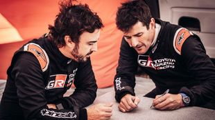 Fernando Alonso y Marc Coma.