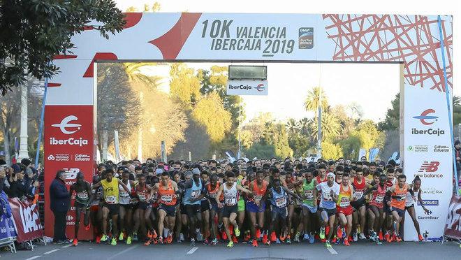 Salida de la 10K Valencia Ibercaja 2019.