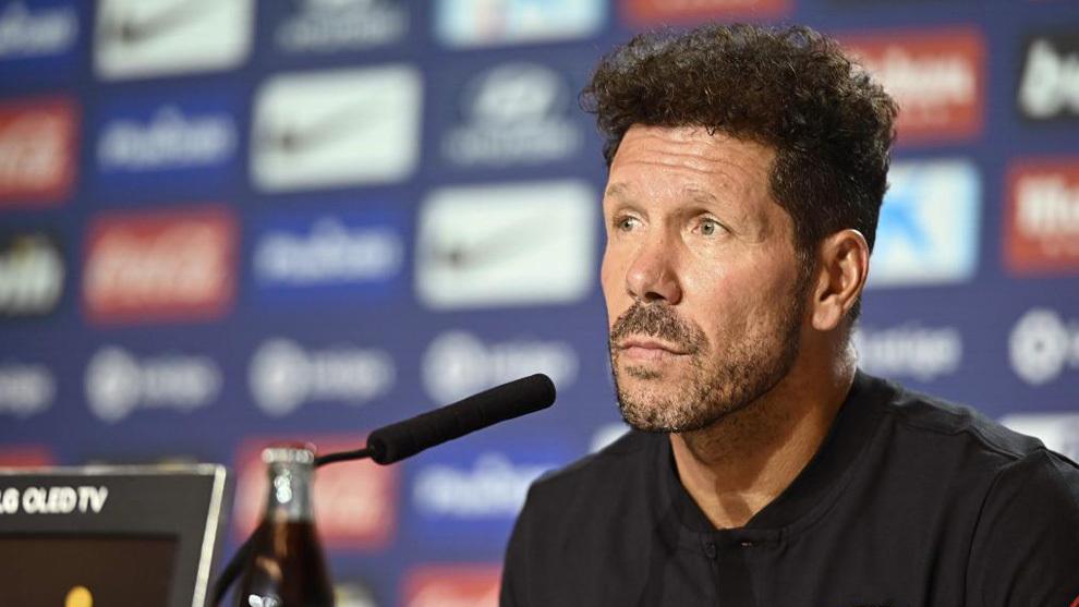 Diego Simeone in a press conference.