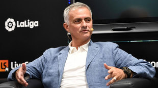 José Mourinho durante una rueda de prensa en Madrid.