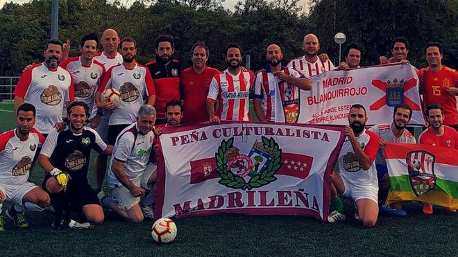 la Peña Madrid Blanquirrojo y la Peña Culturalista Madrileña