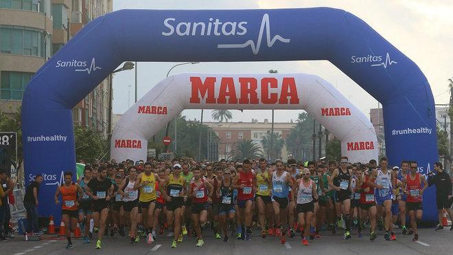 Salida de la Sanitas MARCA Running Series 2018.
