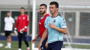 Corchia, en un entrenamiento.