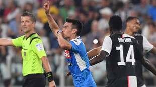 Chucky Lozano festeja su gol contra la Juventus
