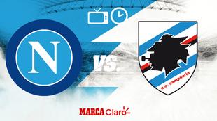 Napoli vs Sampdoria, horario y dónde ver