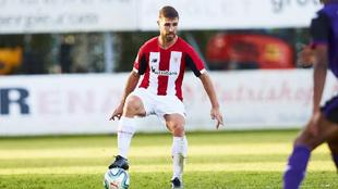 Yeray en el amistoso contra el Toulouse