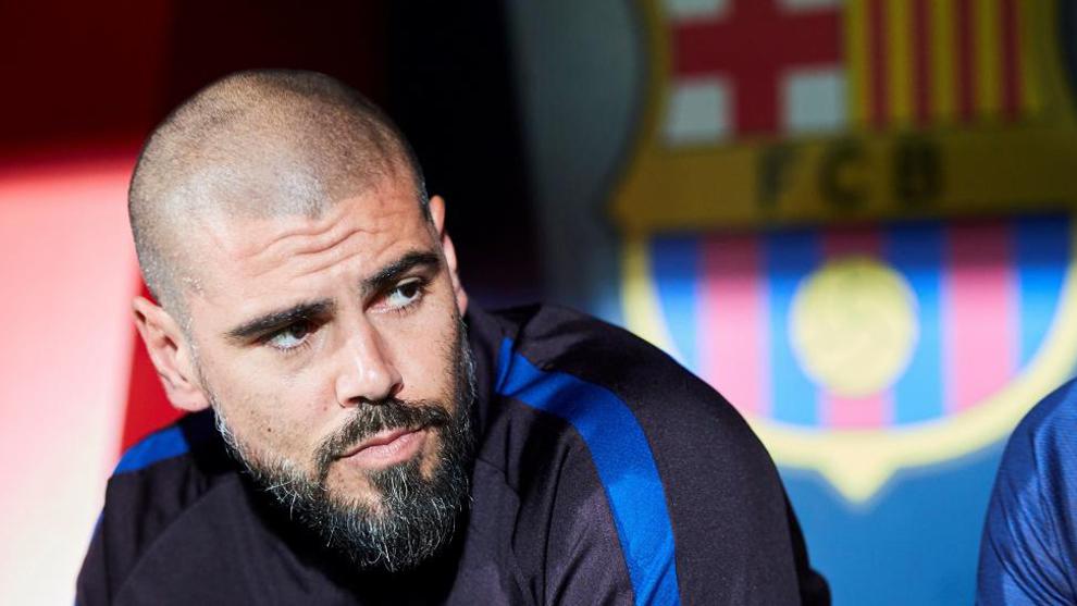 Valdés, en un partido con el Juvenil A