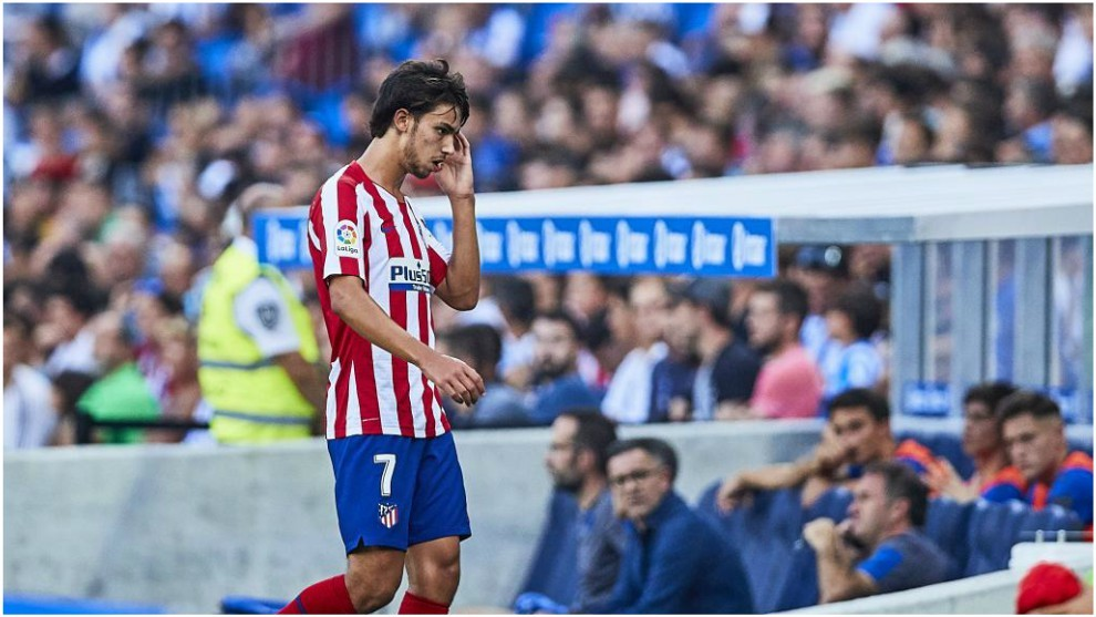 Joao Felix after being substituted at the Reale Arena.