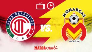 Toluca vs Morelia: Horario y dónde.