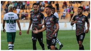 Oaxaca festejando el gol del triunfo