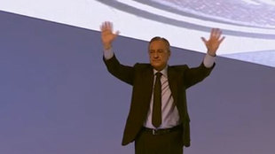 Florentino Perez after speaking at Real Madrid's assembly.