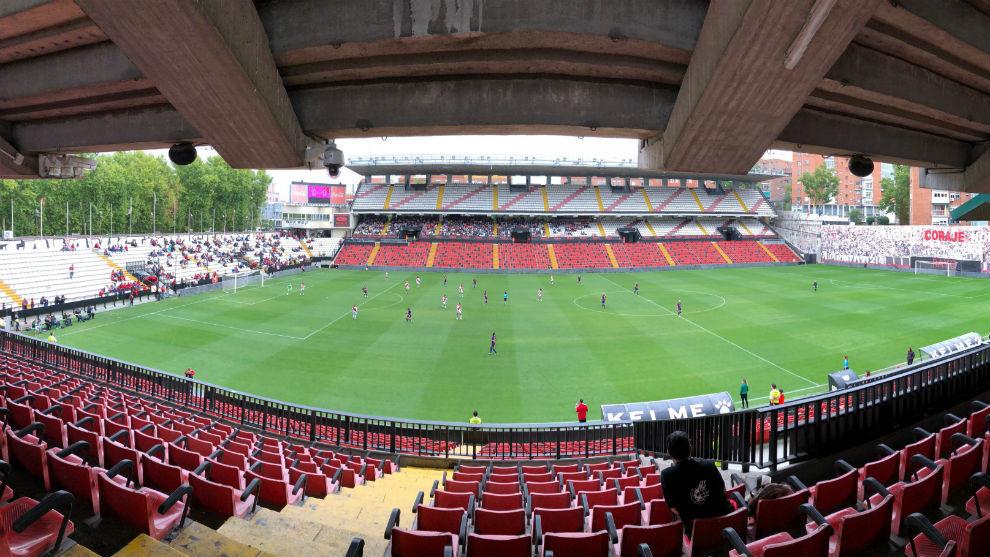 Panorámica del estadio de Vallecas.