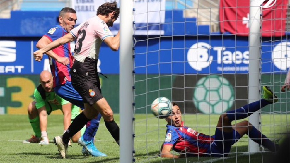 Granero, en el momento del gol.