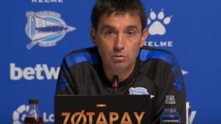 Asier Garitano, técnico del Alavés.