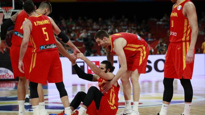 España festeja en Madrid su título Mundial