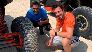 Fernando Alonso y Nasser Al-Attiyah