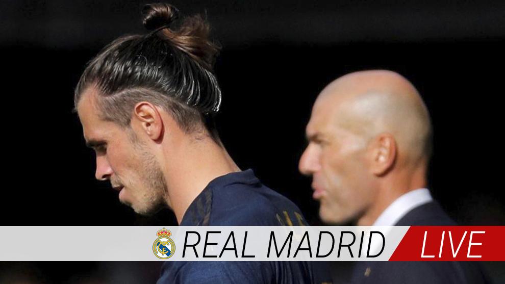 Bale y Zidane, en el partido de Balaídos