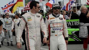Pagenaud y Alonso, durante las 24 Horas de Daytona de 2018.