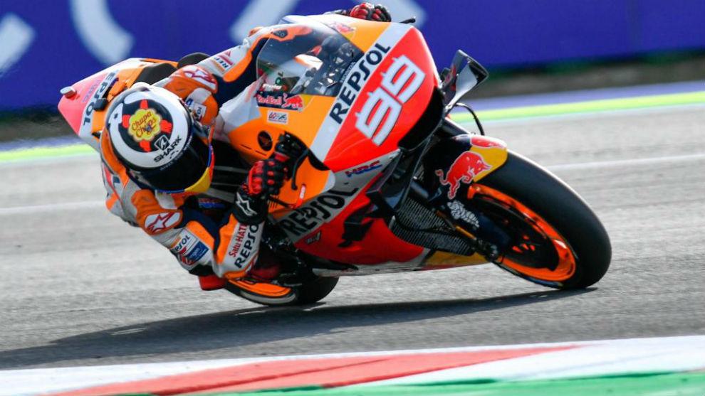 Lorenzo, durante el Gran Premio de San Marino.