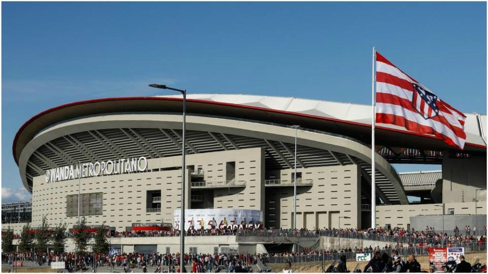 The Wanda Metropolitano before Atletico Madrid's inaugural match at...